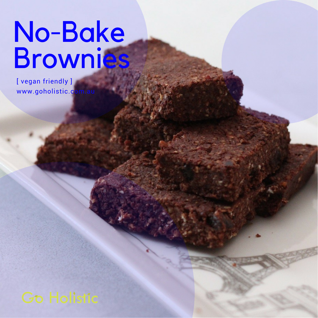 Vegan No-Bake Brownies!